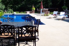 Residential Landscape Design  -  Outdoor Pool & Living Space