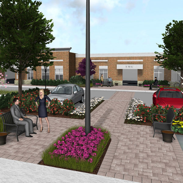 Tipton Town Hall Landcape project