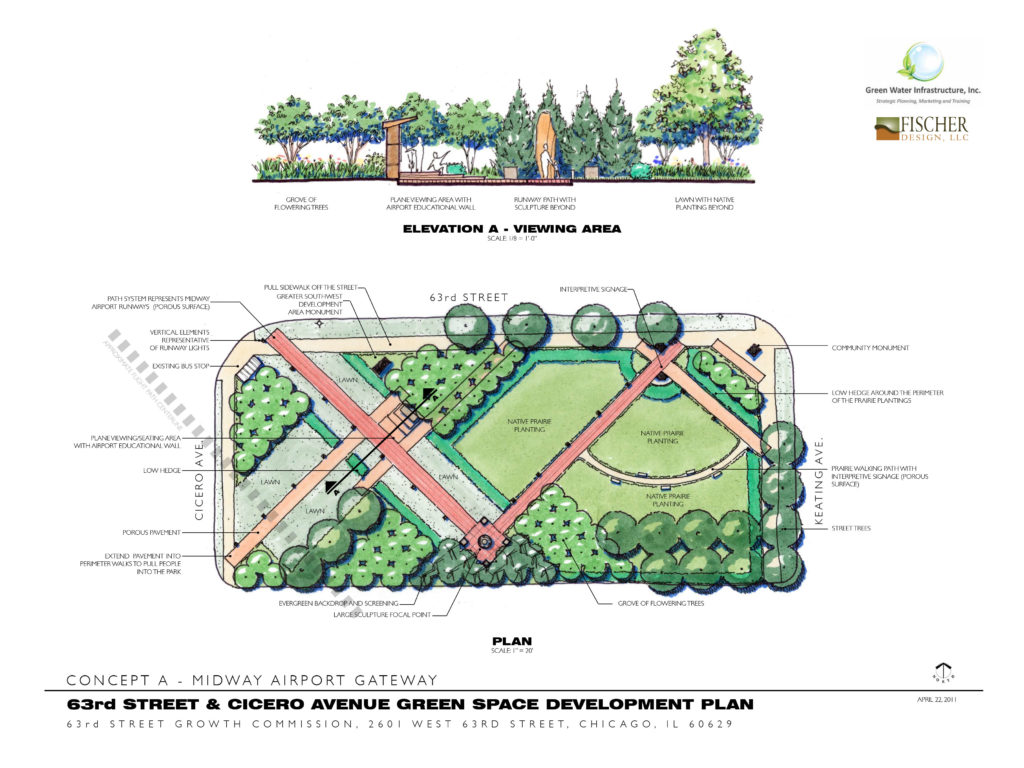 Park Design 63rd & Cicero Concept plan
