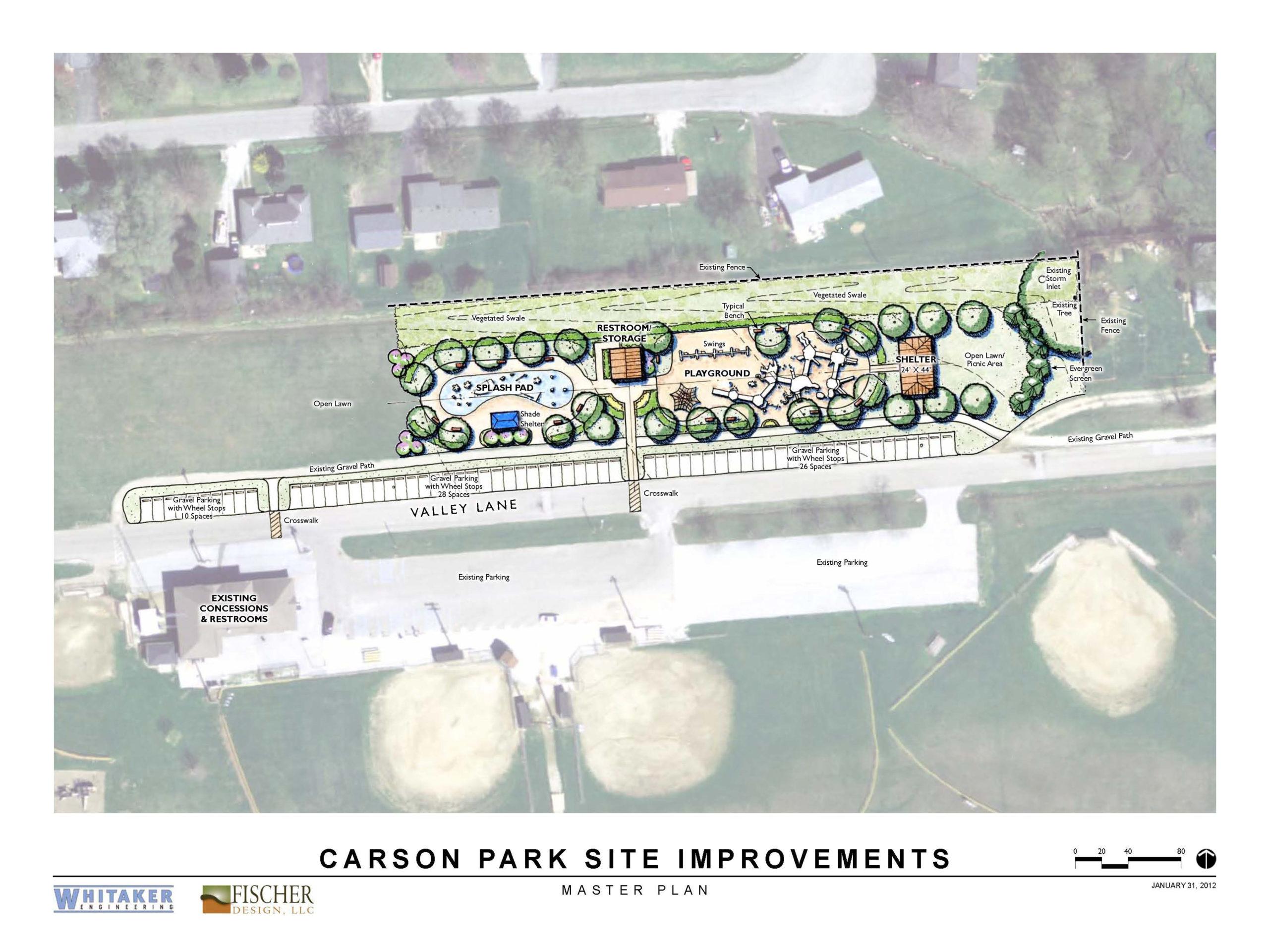 Carson park master landscape plan